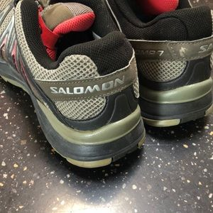 Salmon's athletic shoes
